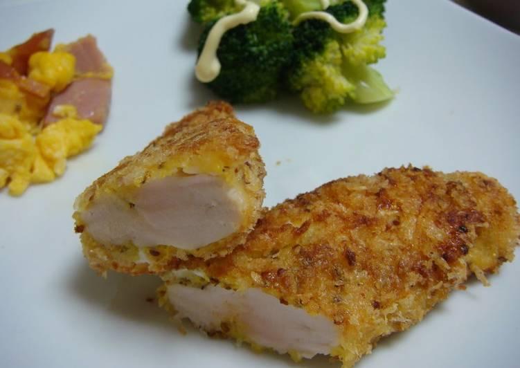 Chicken Tender Cutlet in Mustard Cheese