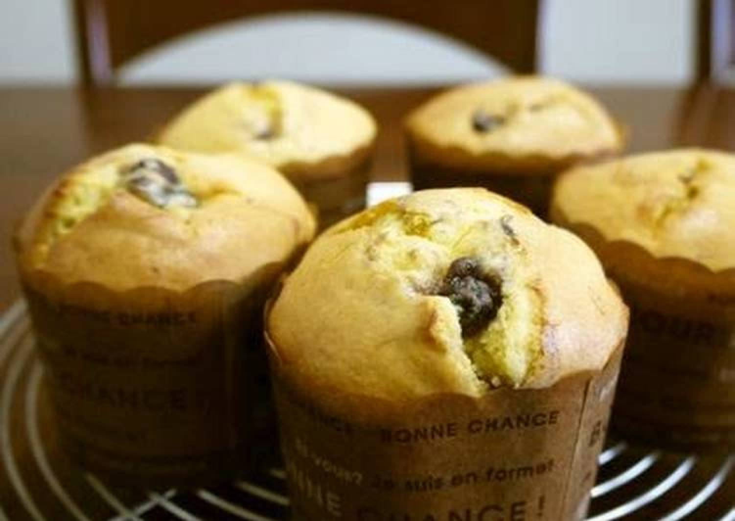Red Bean Paste Muffins with Pancake Mix