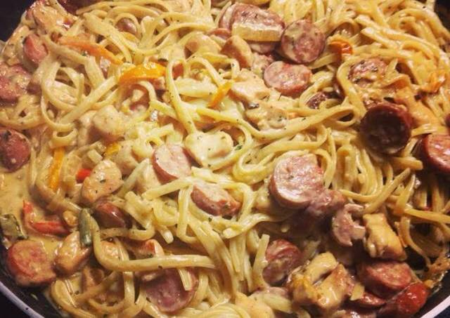 Chicken And Sausage Fettuccine