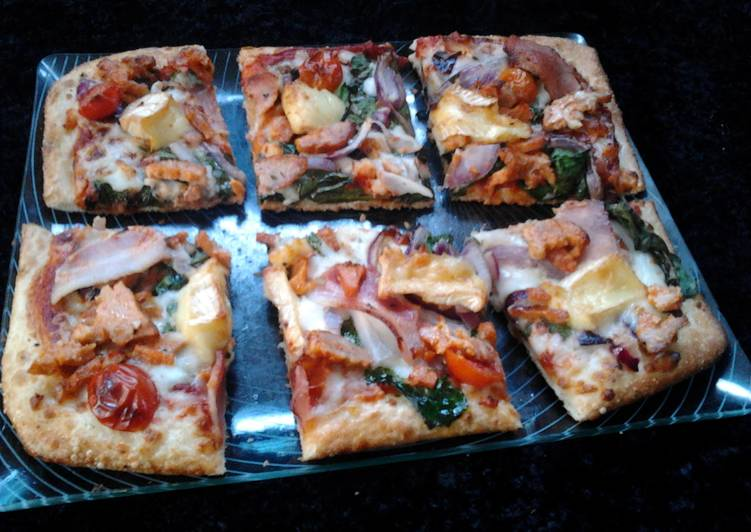 Ladybirds Duck and Feta Pizza
