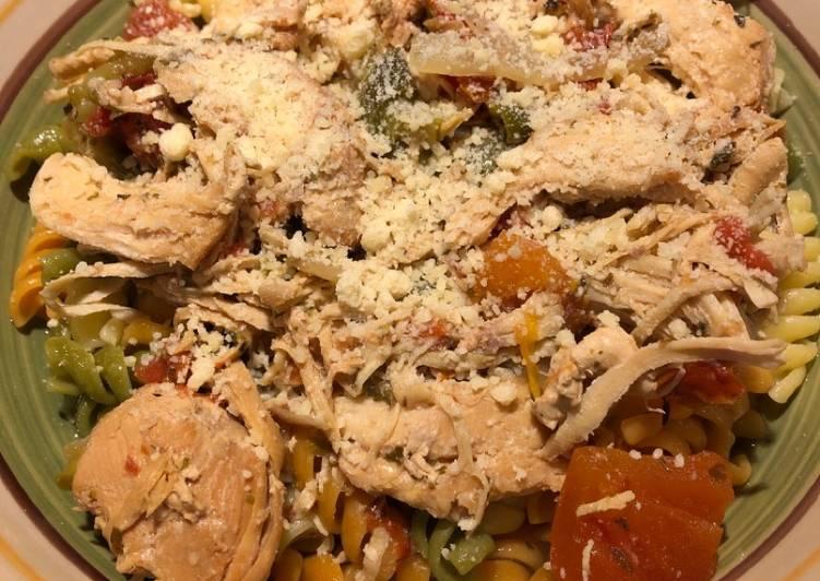 Crockpot Shredded Italian Chicken 🐔