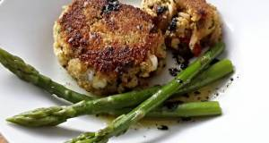 Sigs Leek and Sweet Pepper Crab Cakes