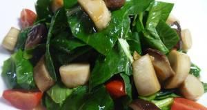 Diet  Macrobiotic Friendly King Oyster Mushroom  Komatsuma Green Salad