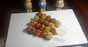 Halloween   Spicy Meatballs Skewers