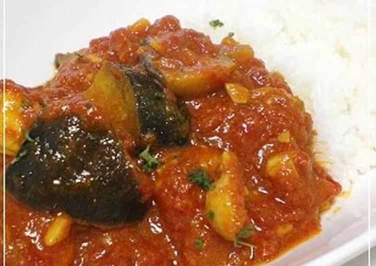 Eggplant & Chicken Tomato Curry