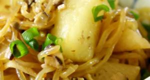 Low-Cal Stir-fried Daikon Radish and Shirataki