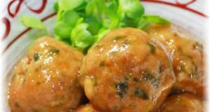 Kimchi and Green Onion Meatballs