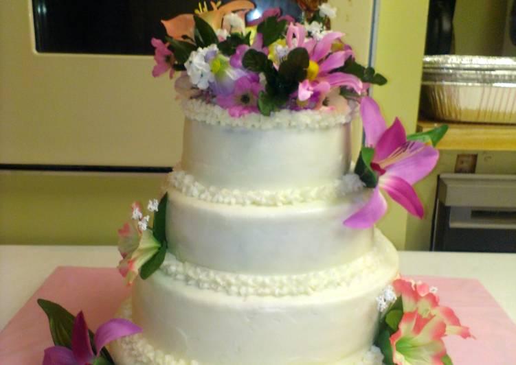 Orange supreme cake with buttercream frosting