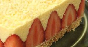 An Easy le Fraisier Style Cake with Lots of Strawberries