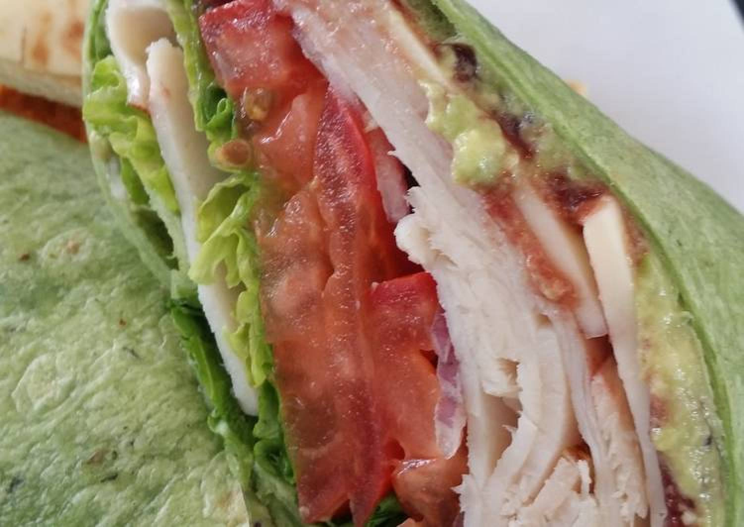 Leftover roasted turkey sandwich wrap