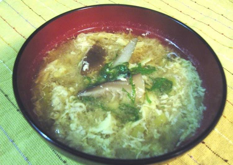 Comforting Miso Soup with Shitake Mushrooms and Burdock Roots