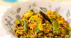 Gluten-Free Curry Flavored Quinoa Risotto
