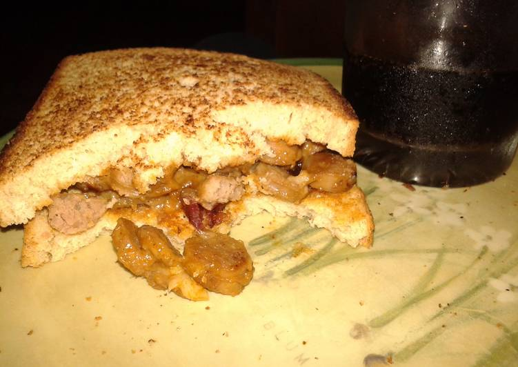 Simple Way to Make Ultimate Sausage and bacon sandwich