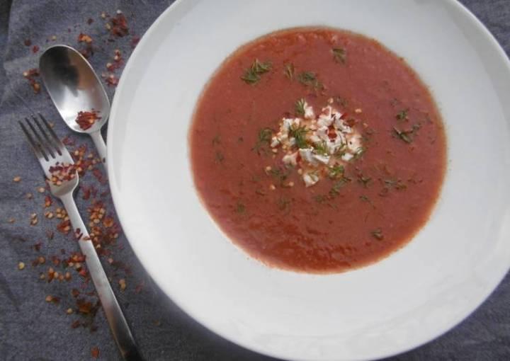 A bowl of homemade Tomato Soup