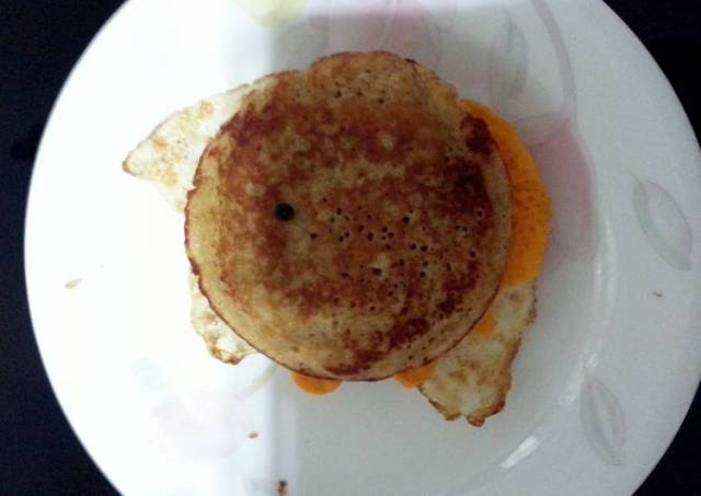 J's PEM (Pancake with Egg & Mozzarella)