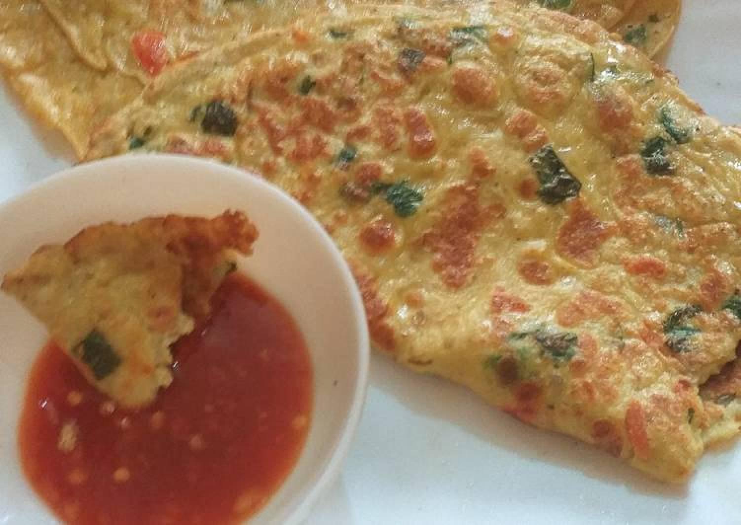 Egg veg paratha (pancakes)