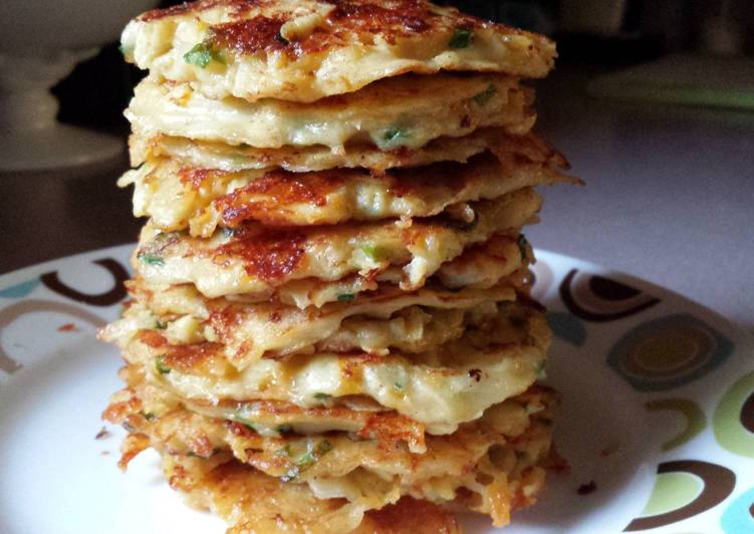 Potato-Apple Cheddar Pancakes