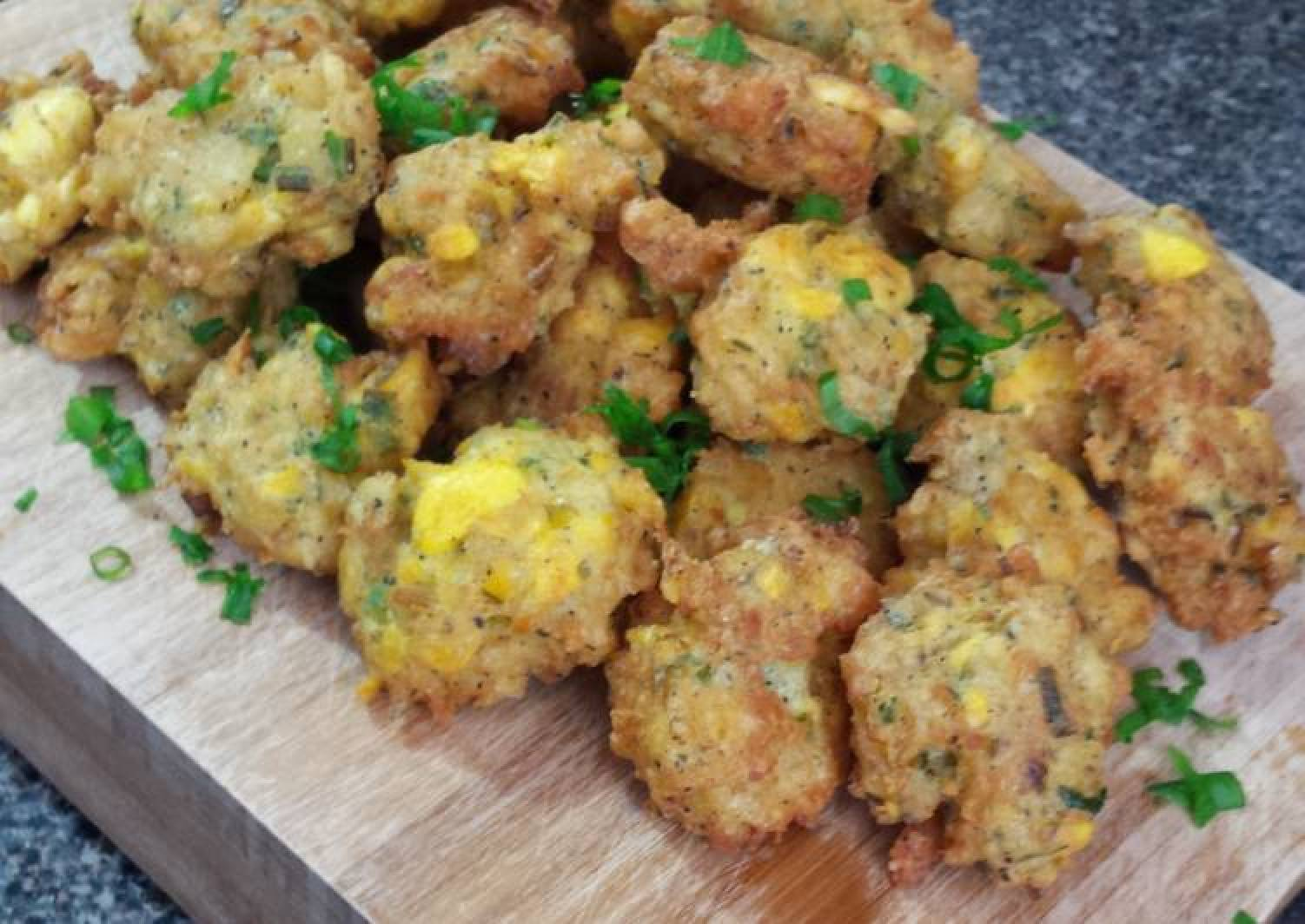 Ackee and Saltfish Fritters
