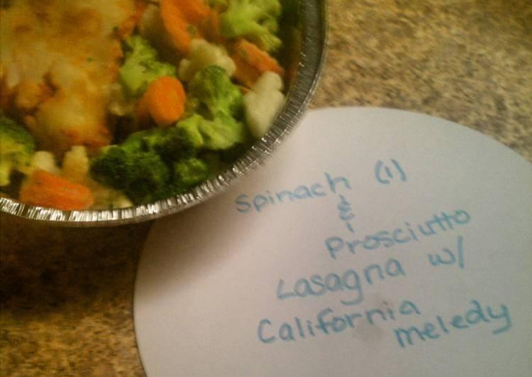 Spinach & Prosciutto  Lasagna