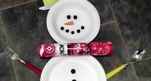 Childrens Snowman Place Setting for Christmas