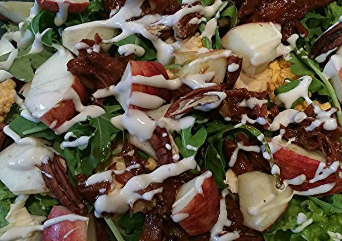 Apple BBQ Pork Salad