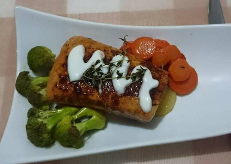 Blackened Salmon with Greek Yogurt