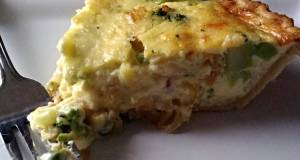 Caramelized Onion And Broccoli Quiche