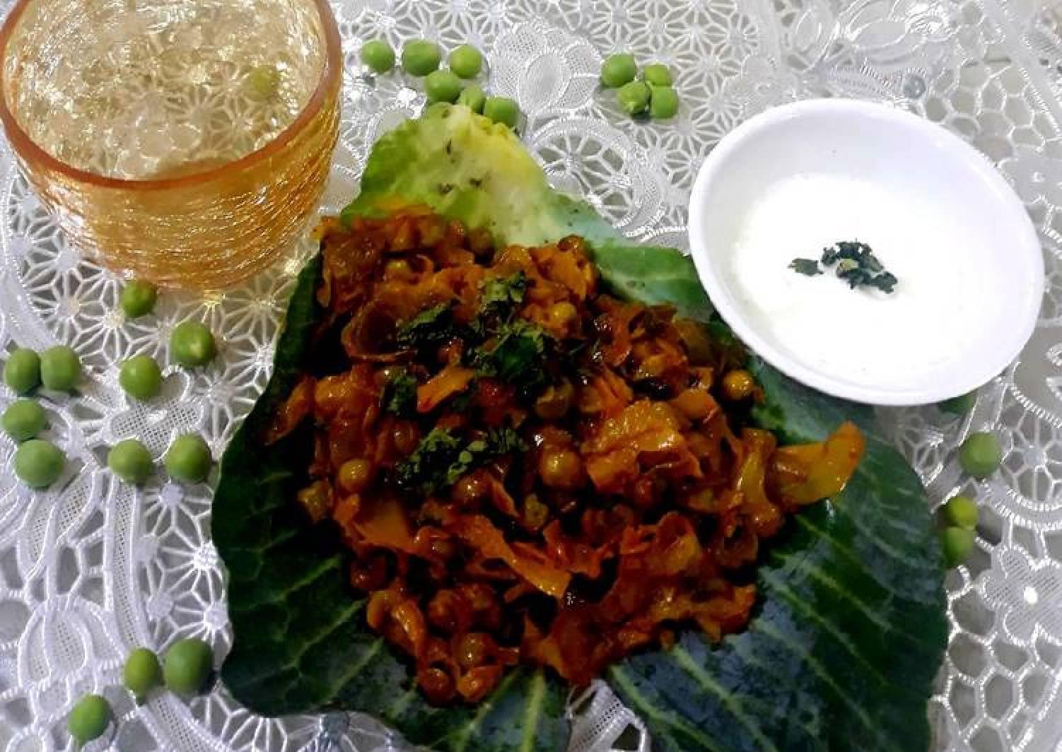 Cabbage &Peas