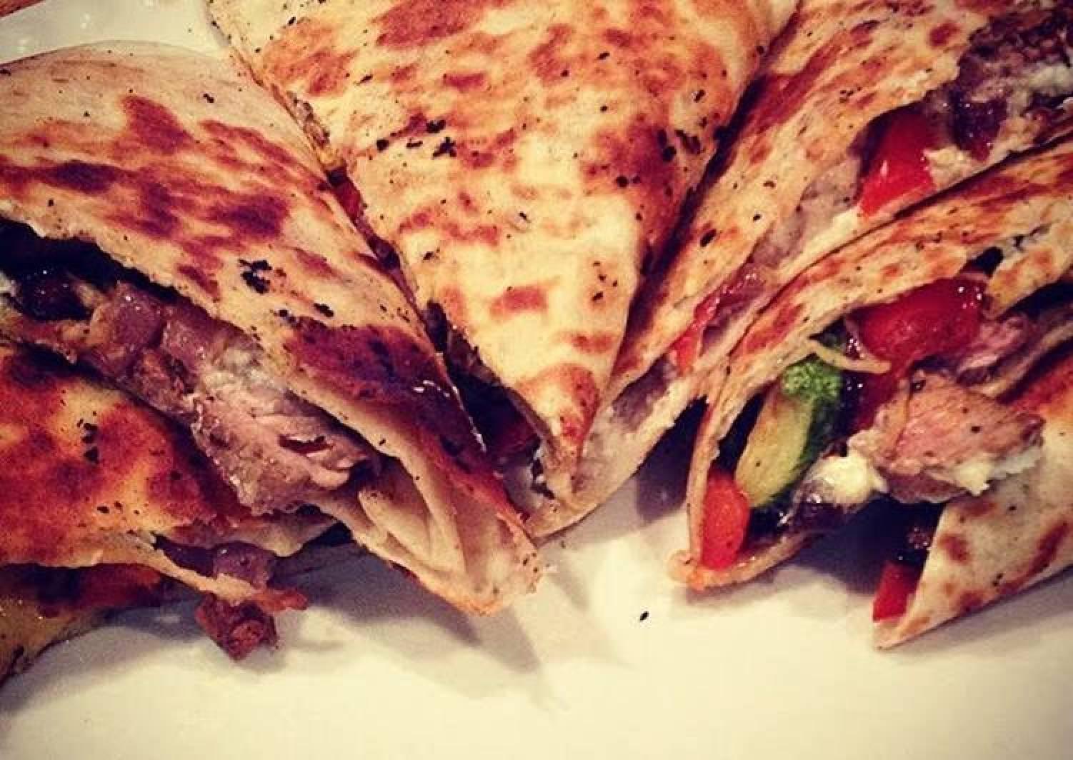 Roasted Veggie & Balsamic Steak Quesadillas