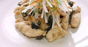 Stir-Fried Chicken Breast with Shiso Leaves