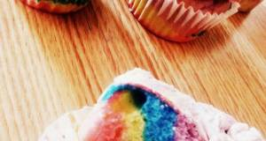tye-dye cupcakes/cake and frosting