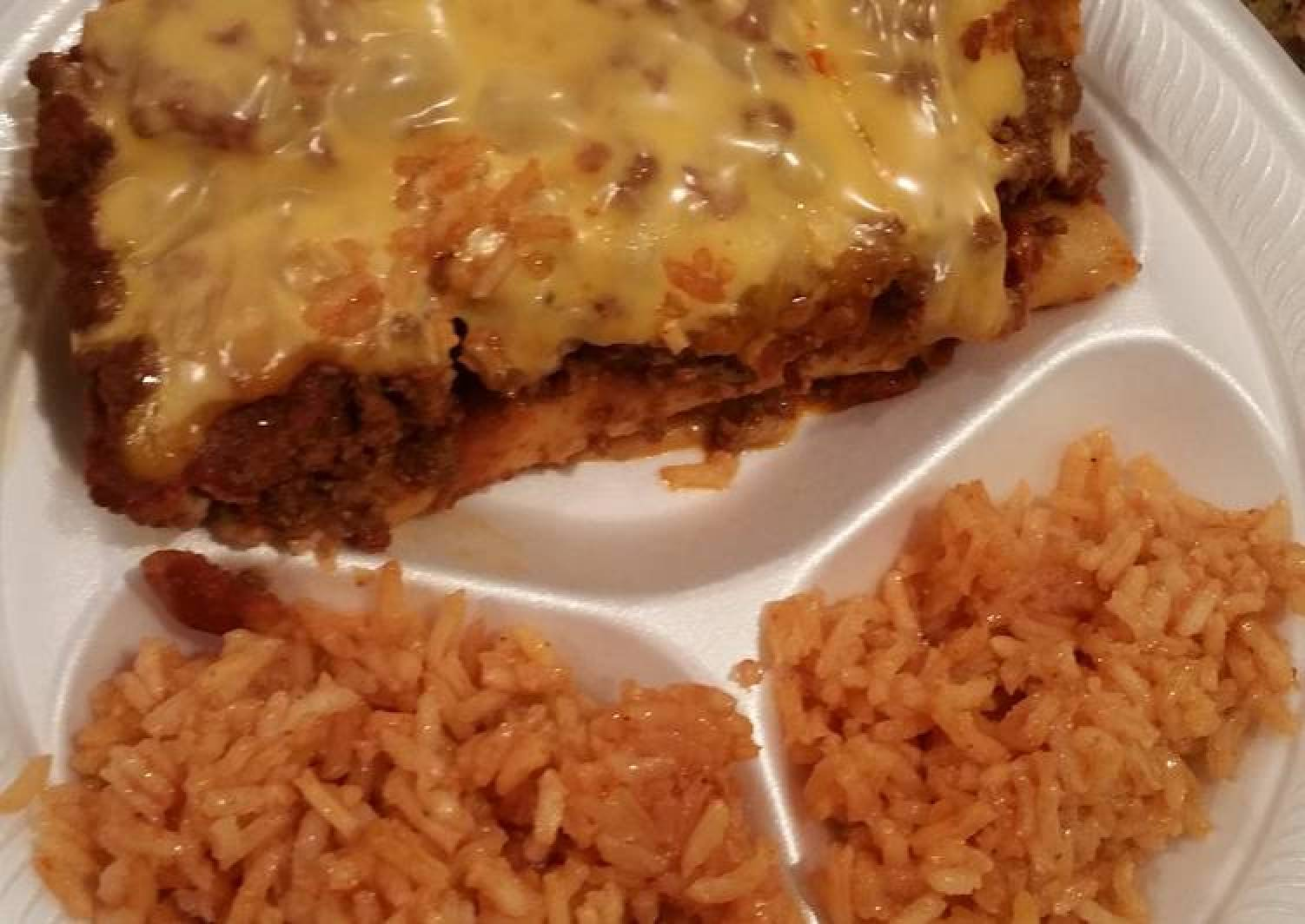Homemade Beef and Cheese Enchiladas- Recipe from Lubys Cafeteria made simple