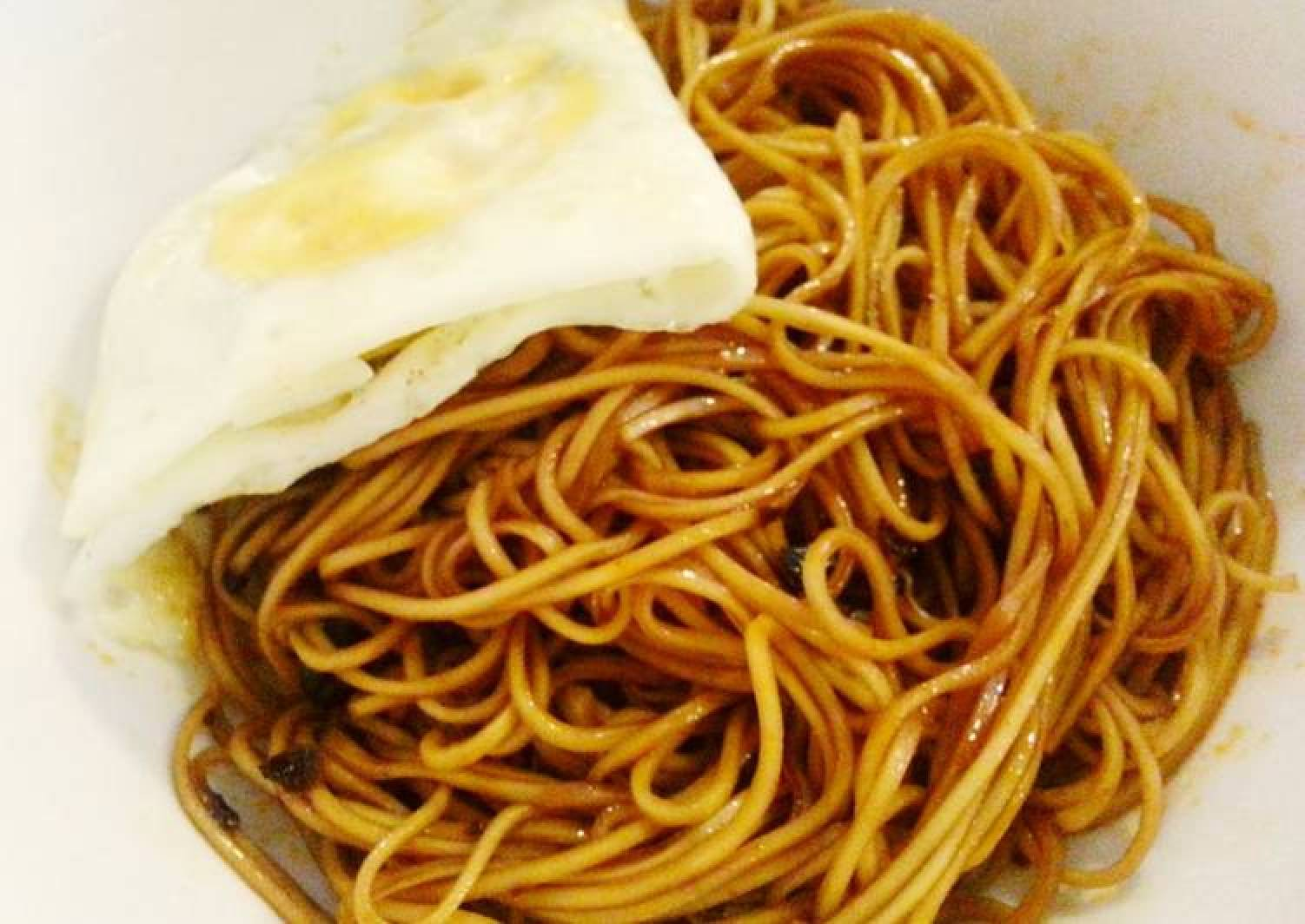 Sweet and spicy egg noodle