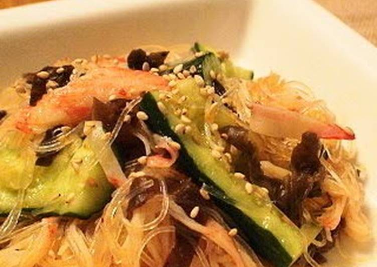 Spicy Cucumber and Cellophane Noodle Salad
