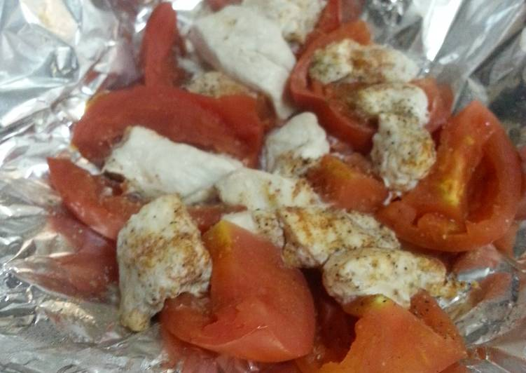 HCG Diet meal Tomatoes and Chicken
