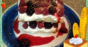 Amys Raspberry Mille Feuille with Berry Compote