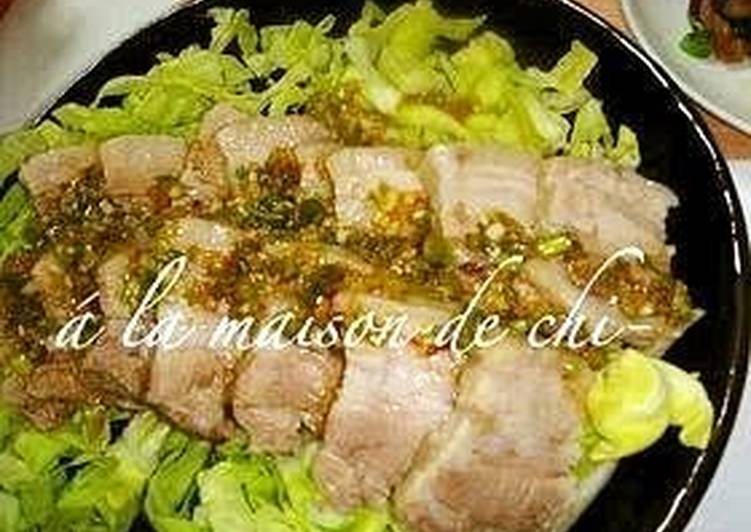 So Easy! Boiled Pork With My All-Purpose Spicy Aromatic Sauce