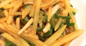 Potato and Green Pepper Stir Fry with Oyster Sauce