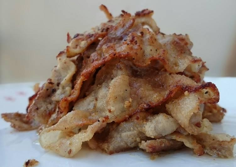 Pan Fried Pork With Ground Mustard
