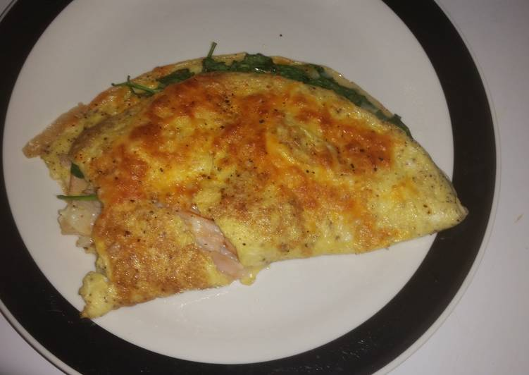 Sweet healthy broiled omelet!