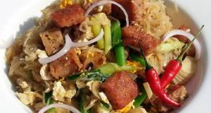 Fried Cellophane Noodle With Spam