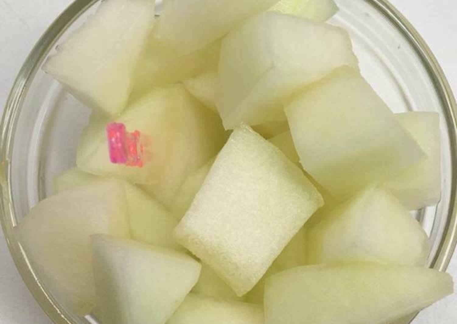 Melon with lime juice