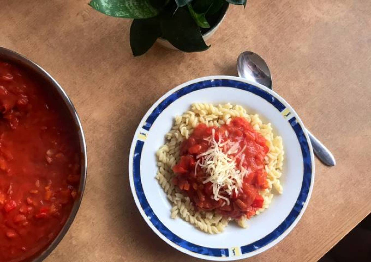 Studentenversion: Nudeln mit Tomatensoße