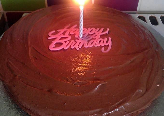 Vickys Chocolate Birthday Cake, GF DF EF SF NF
