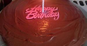 Vickys Chocolate Birthday Cake GF DF EF SF NF