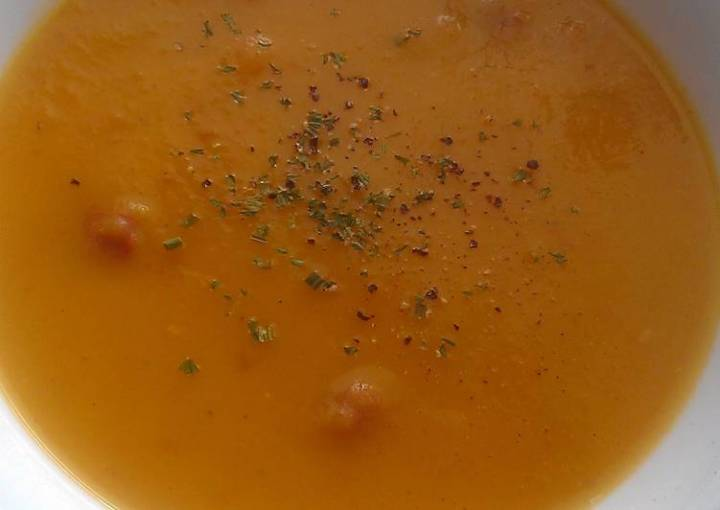 Vickys Root Veg & Sausage Soup, GF DF EF SF NF
