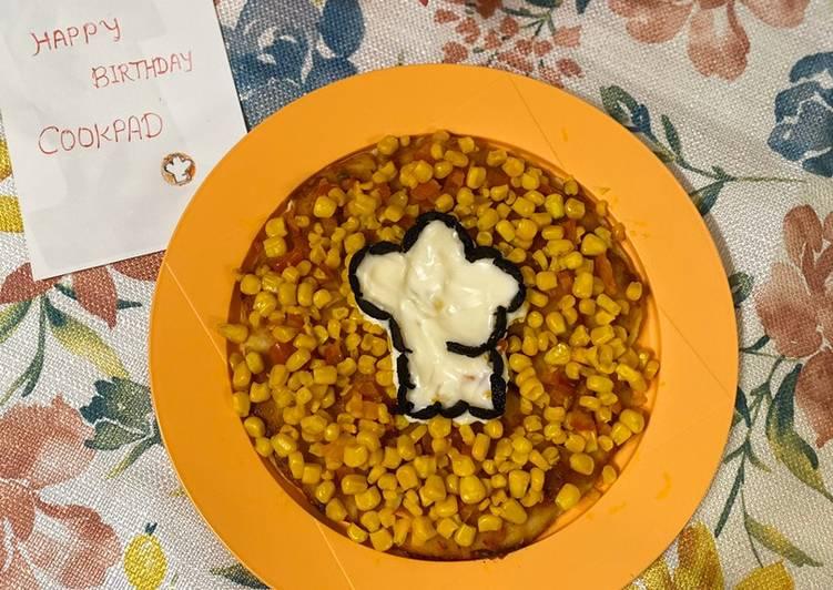 Corn Mayo Naan Pizza No yeast