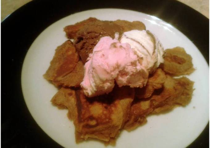 Chocolate Crepes (with ice cream)