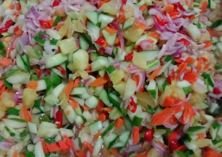 Acar timun,wortel dan nanas