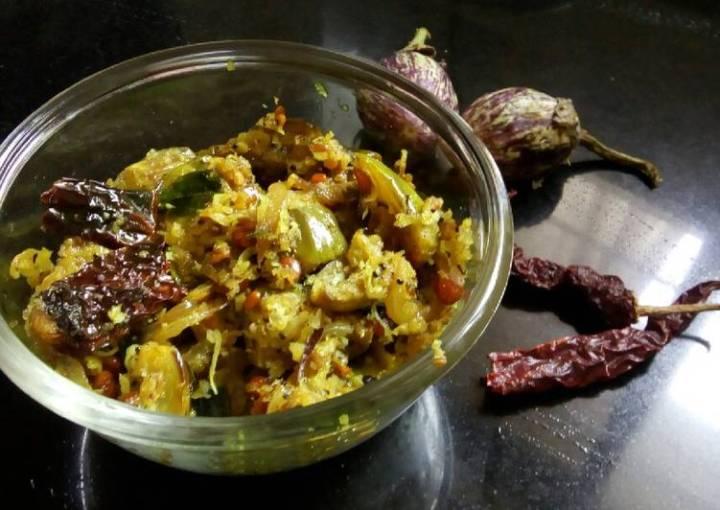 Vankaya vepudu (brinjal stir fry)